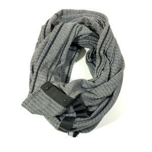 Lululemon snap button infinity scarf black gray